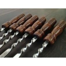 Шампур с деревянной ручкой плоский (55)
